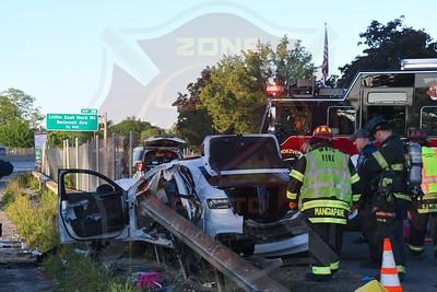 West Babylon F.D. MVA w/ Guardrail Through the Car  Sunrise Hwy.   5/31/21