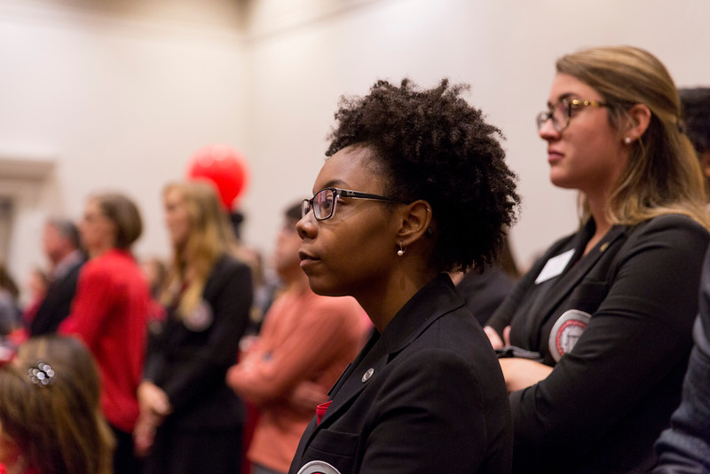 Description: Capital Campaign Campus KickoffDate of Photo: 11/10/2016Credit: Andrew Davis Tucker, University of GeorgiaPhotographic Services File: 34401-175The University of Georgia owns the rights to this image or has permission to redistribute this image. Permission to use this image is granted for internal UGA publications and promotions and for a one-time use for news purposes. Separate permission and payment of a fee is required to use any image for any other purpose, including but not limited to, commercial, advertising or illustrative purposes. Unauthorized use of any of these copyrighted photographs is unlawful and may subject the user to civil and criminal penalties. Possession of this image signifies agreement to all the terms described above.
