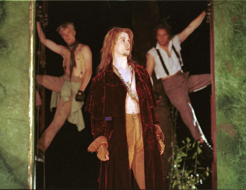 ". Pictured is a scene from Shakespeare Santa Cruz\'s production of ""A Midsummer Night\'s Dream.\"" In the foreground, Bruce Turk portrays \""Oberon.\"" The play was directed by Tim Ocel. (Sentinel file)"
