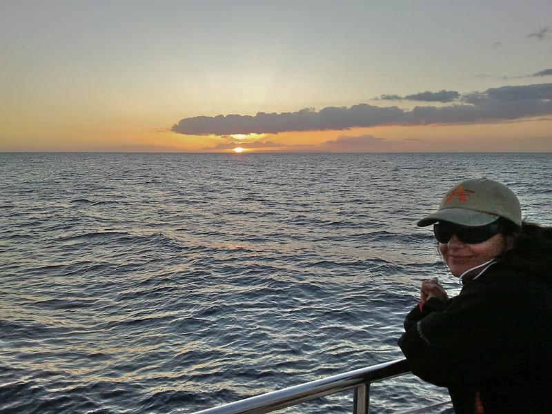 sunset on catamaran