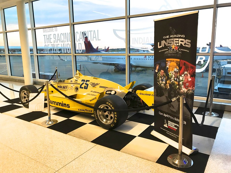 The Indianapolis airport always has Indy cars on display.