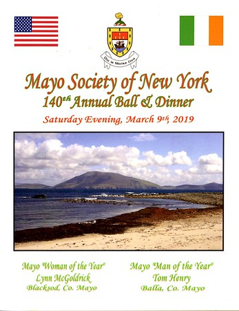 Mayo Society Of New York's 140th Annual Ball & Dinner