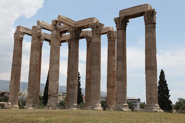 Zeus temple, Athens Greece - May, 2010