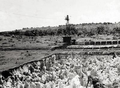 Phosphate field in process of working