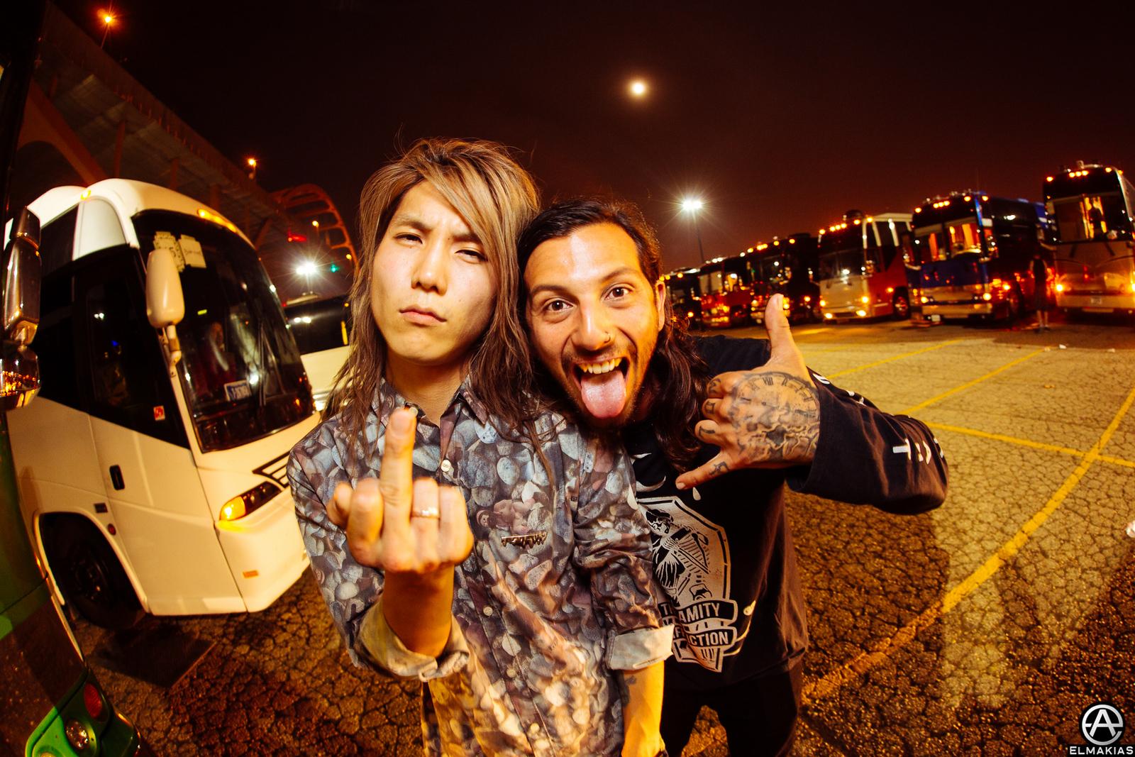 Hiroki Ikegawa of Crossfaith at Vans Warped Tour 2015 by Adam Elmakias