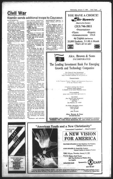 Daily Trojan, Vol. 111, No. 4, January 17, 1990