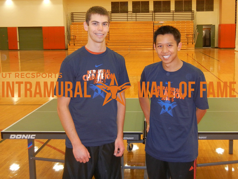 TABLE TENNIS Men's Champions  B Champion: Tommy Garber & A Champion: Dao Le