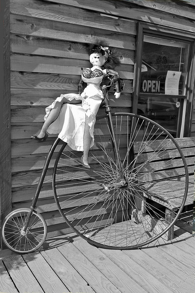 Storefront display in Skagway.