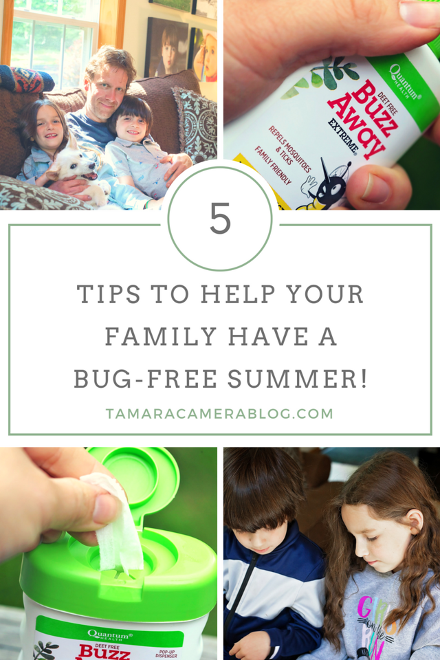 Here in the northeast, bugs are a big problem for outdoor entertaining and play, and camp! 5 Tips to Help Your Family Have a Bug-Free Summer! #ad #BuzzAway