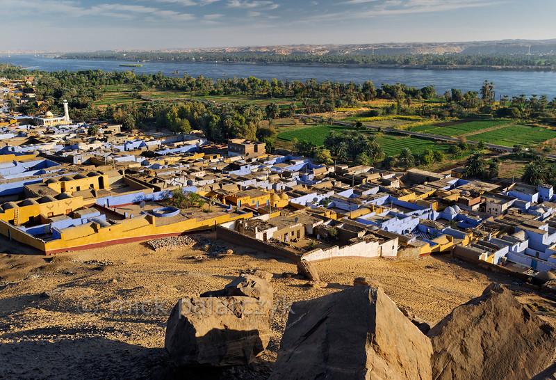 [Egypt 29639] 'Village of Nagaa Al Hamdelab and Nile.'