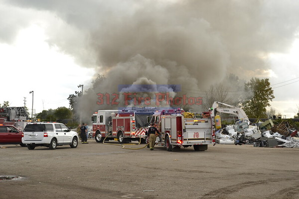 Blue Island, IL Rubbish fire 136th & Western Av. 9/21/2014