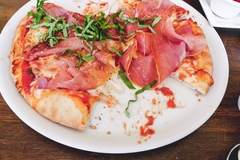 Prosciutto Crudo Pizza with basil