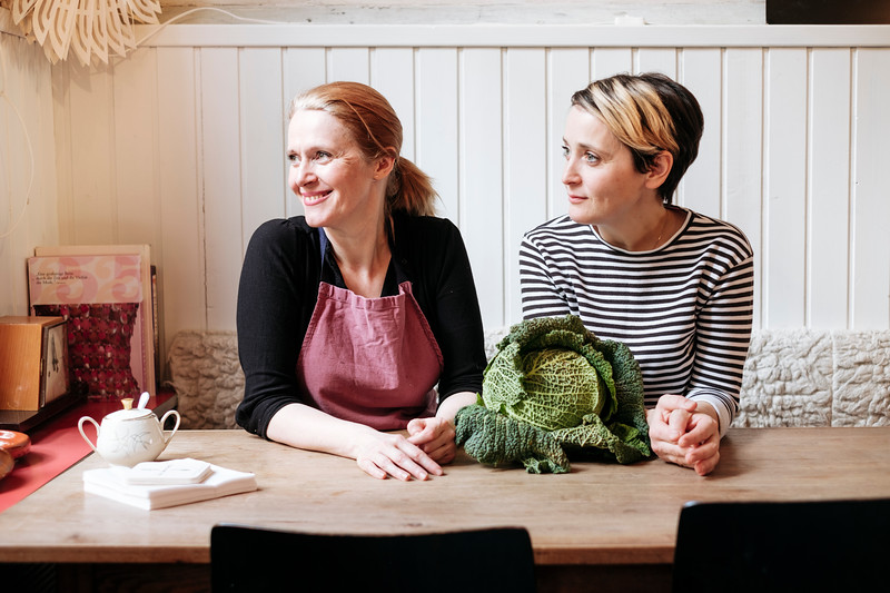 Claire Guerrier and Maya Totaro, La fourchette restaurant Basel