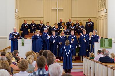 New Choir Robes - August 2008