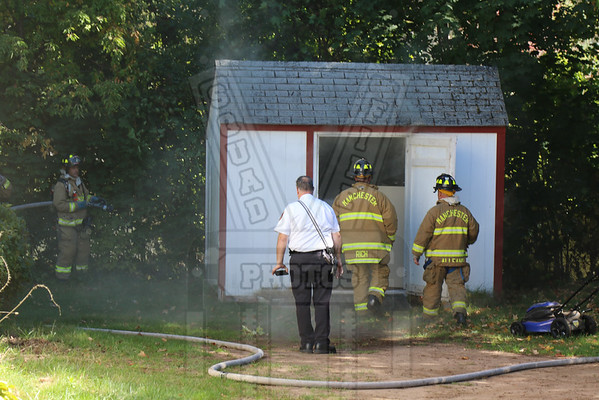 Manchester, Ct Shed fire 10/12/15