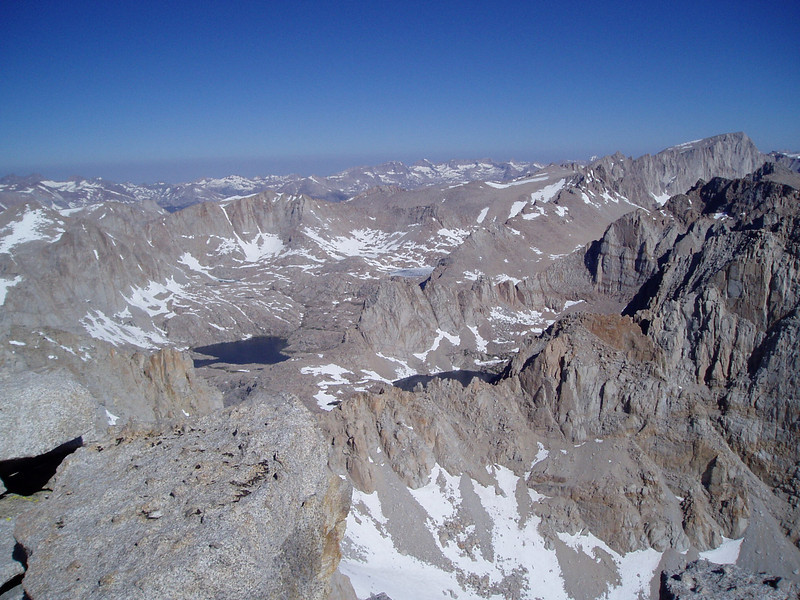 View to North, Mt. Whitney in far right.