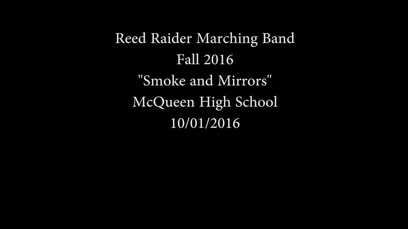 2016 Reed Raider Band at McQueen October 1 2016.mp4