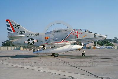 U.S. Marine Corps A-4 Skyhawk Airplanes in Bicentennial Color Scheme