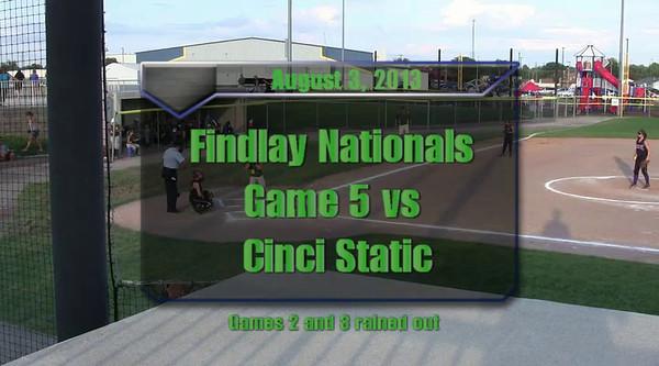 Findlay Nationals Aug. 3, 2013.  Game 5 vs Cinci Static