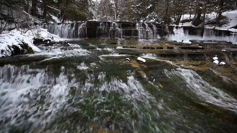 Winter Cascades - Au Train Falls (Au Train, MI)