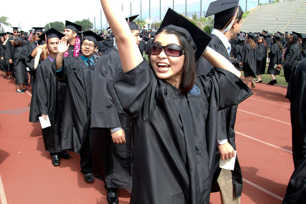 . Nam Tran, 30, during the Citrus College 97th Commencement Ceremony, at Citrus College Stadium, in Glendora, Saturday, June 15, 2013. (Correspondent Photo by James Carbone/SVCITY)