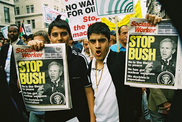 STWC & PSC Don't attack Iraq Demo 28th Septmber 2002