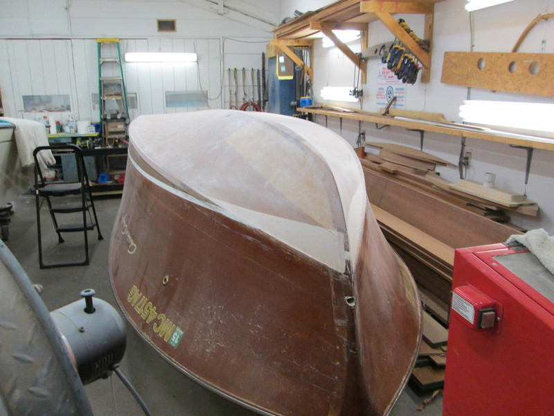 Front view of sanded epoxy.