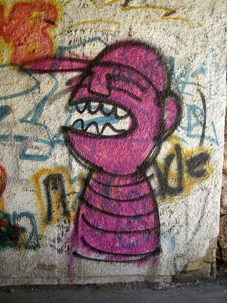 grafitti in the new city - West Jerusalem