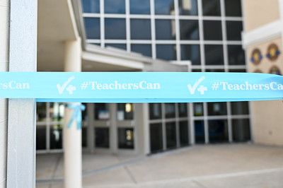 A&M-CC Momentum Wave Among 30 A&M System Structures to be Lit Blue for World Teachers' Day