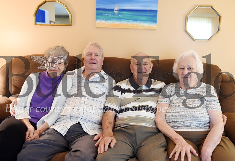 Harold Aughton/Butler Eagle: Nancy and Bill Krizen (on left) and Donald and Bernice Hickey.