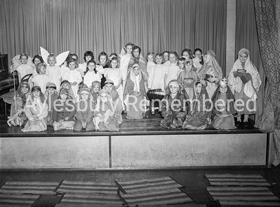 Abbey County Infant School nativity, Dec 1955
