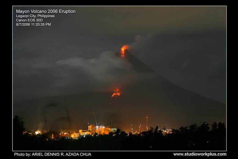 Mayon Volcano Eruption 2006