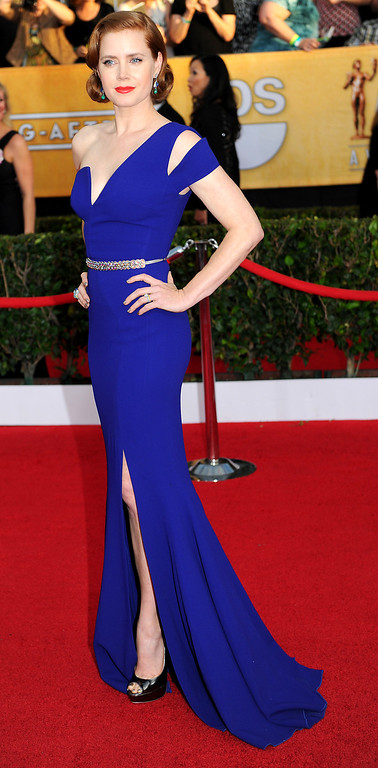 . Amy Adams arrives at the 20th Annual Screen Actors Guild Awards  at the Shrine Auditorium in Los Angeles, California on Saturday January 18, 2014 (Photo by Michael Owen Baker / Los Angeles Daily News)