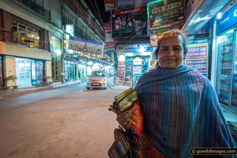 Street seller in Thamel