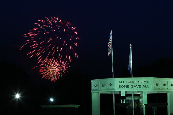 July 4 Fireworks Display from Memorial