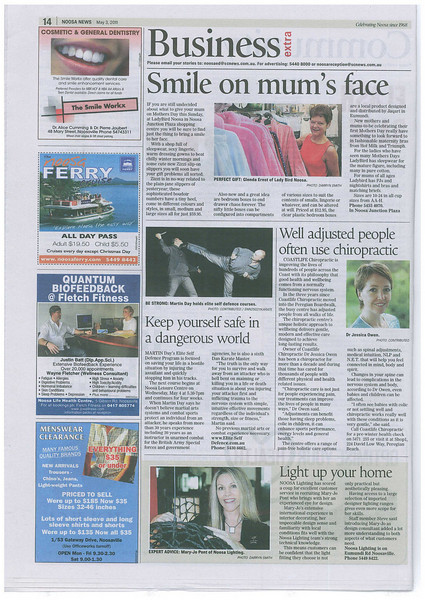 Keep yourself safe in a dangerous world. - Noosa News: Business Extra 3 May 2011