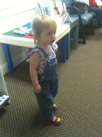 Gracie at Dr. Sprinkle's office