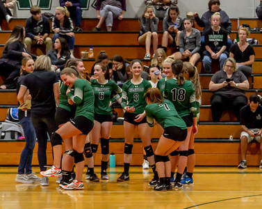 Game three, Set eight: Vashon Island High School Varsity Volleyball v Annie Wright 09/26/2018
