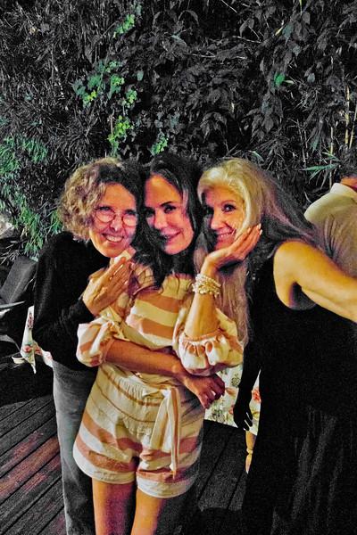 Eva Strauss-Rosen, left; Margaret Mitchell, center - Freddy Clarke birthday party