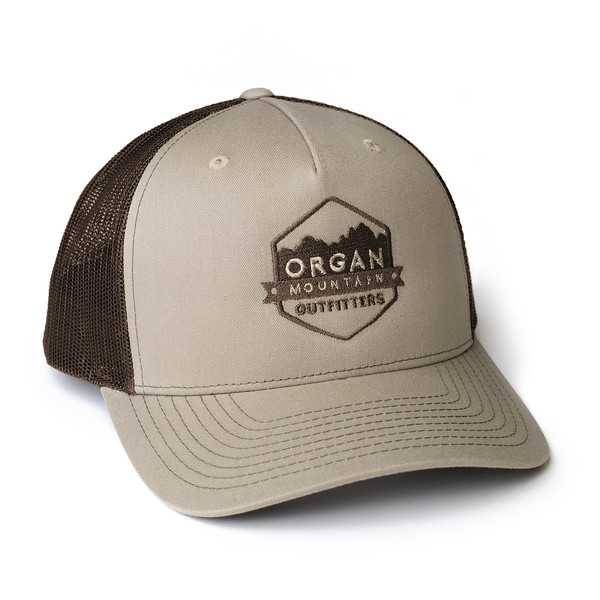 Organ Mountain Outfitters - Outdoor Apparel - Hat - Snapback Trucker Cap - Khaki Coffee.jpg