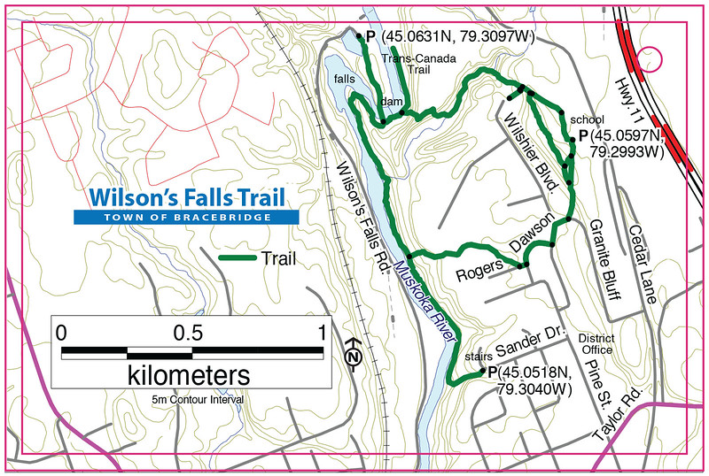 Wilson's Falls Trail Map