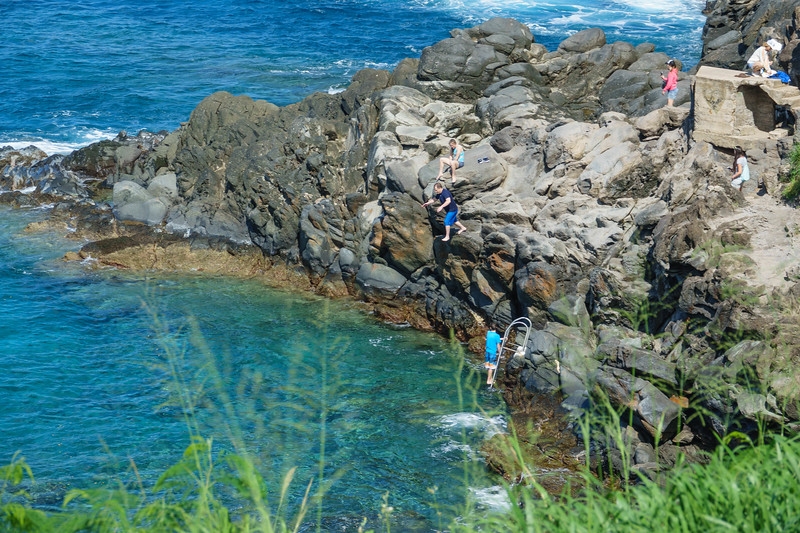 I jumped off a cliff into the water! (No, not really me!!)