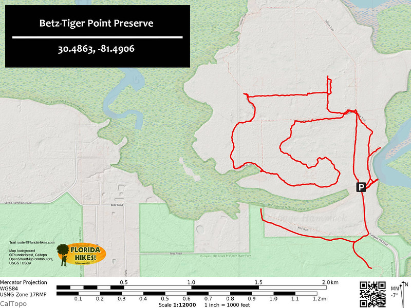 Betz Tiger Point Preserve Trail Map