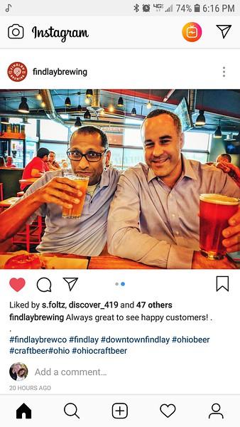 Vijay and Brian at Findlay Brewing (2018-07-26)
