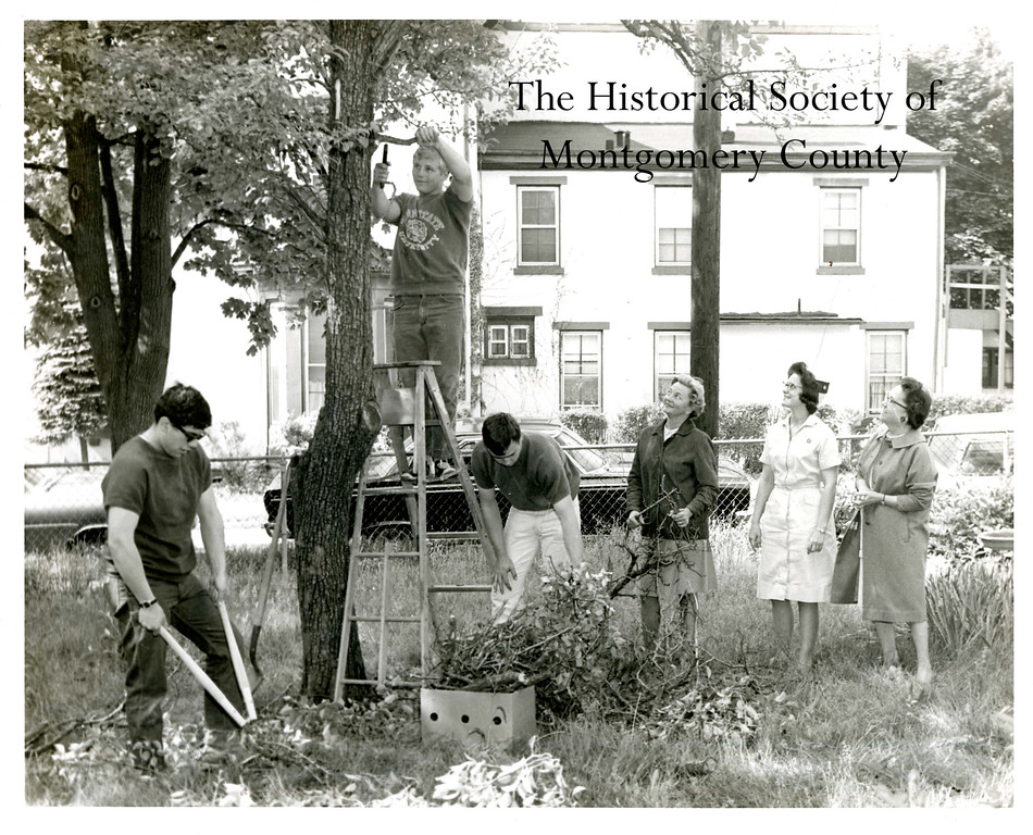 . This photo from the Historical Society of Montgomery County shows members of the Norristown Garden Club and students from Norristown Area High School working on a beautification project in 1968.