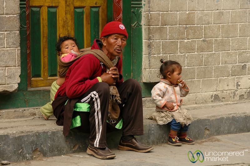 Taking Care of Grandkids - Annapurna Circuit, Nepal