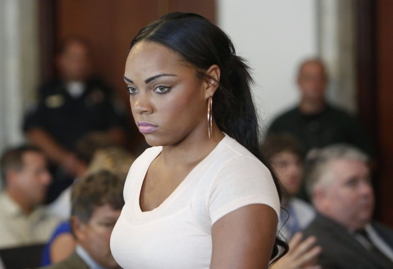 """. <p>10. (tie) SHAYANNA JENKINS <p>Landing in same prison as Aaron Hernandez would make those conjugal visits a whole lot easier. (previous ranking: unranked) <p><b><a href=\'http://espn.go.com/boston/nfl/story/_/id/9732295/aaron-hernandez-fiancee-shayanna-jenkins-two-others-indicted\' target=\""""_blank\""""> HUH?</a></b> <p>     (AP Photo/Bizuayehu Tesfaye, File)"""