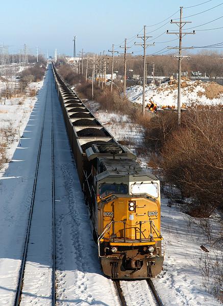 Union Pacific 8055 (GMD SD9043AC) Fonda Siding - Milwaukee, WI