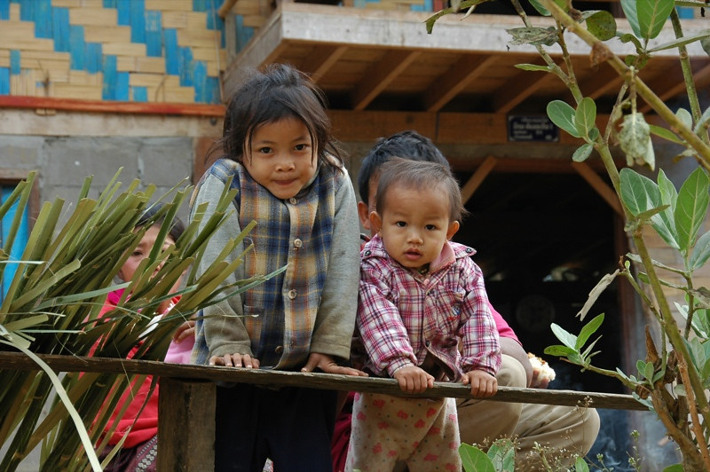 Hmong Siblings - Luang Prabang, Laos