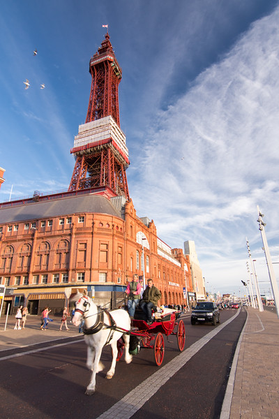 Horse and carriage on Blackpool Promenade